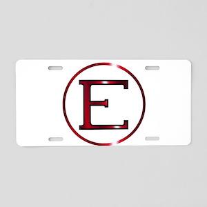 Epsilon Greek Letter Aluminum License Plate