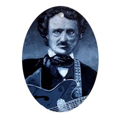 Edgar Allen Poe Rocks! Ornament (Oval)