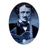 Edgar Allen Poe Rocks! Ornament (Oval)