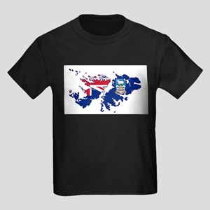 Falkland Islands Silhouette Flag Map T-Shirt