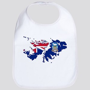 Falkland Islands Silhouette Flag Map Bib
