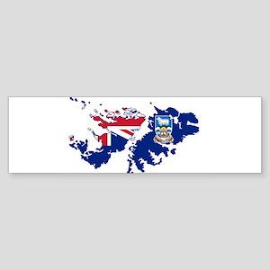 Falkland Islands Silhouette Flag Ma Bumper Sticker