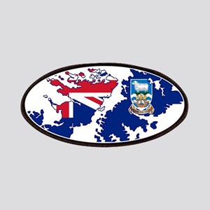 Falkland Islands Silhouette Flag Map Patch