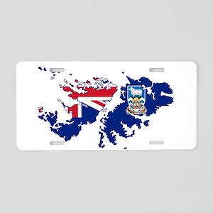 Falkland Islands Silhouette Aluminum License Plate