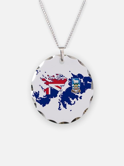 Falkland Islands Silhouette Necklace