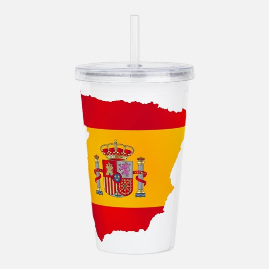 Silhouette Flag Map Of Acrylic Double-wall Tumbler
