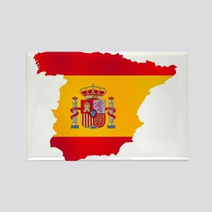 Silhouette Flag Map Of Spain Magnets
