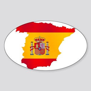 Silhouette Flag Map Of Spain Sticker