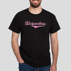 Alejandra Vintage (Pink) Dark T-Shirt