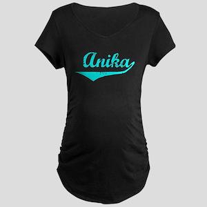 Anika Vintage (Lt Bl) Maternity Dark T-Shirt