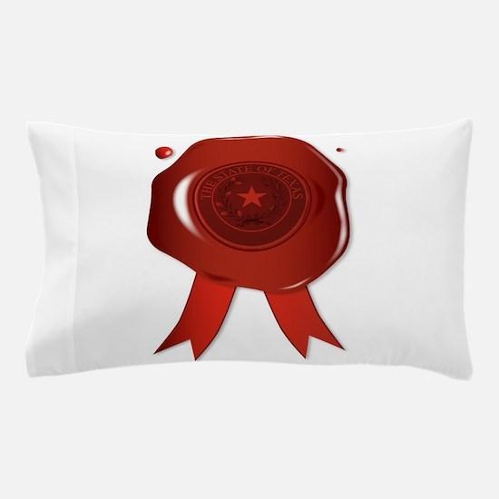Texas State Wax Seal Pillow Case