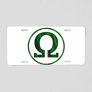 Omega Greek Letter Aluminum License Plate