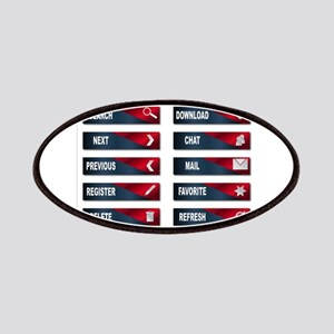 Red Web Buttons Over White Patch
