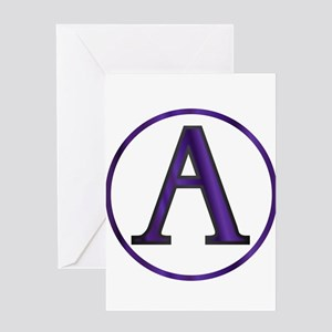 Alpha Greek Letter Greeting Cards