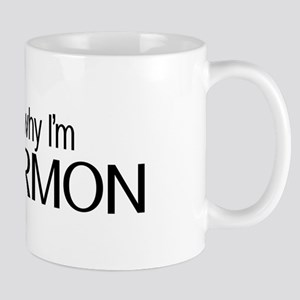 LDS: Ask Me Why I'm Mormon (Black & White) Mugs