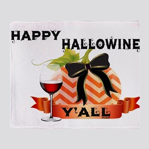 Happy Hallowine Y'all Throw Blanket