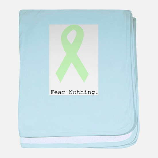 Mint Green: Fear Nothing. baby blanket