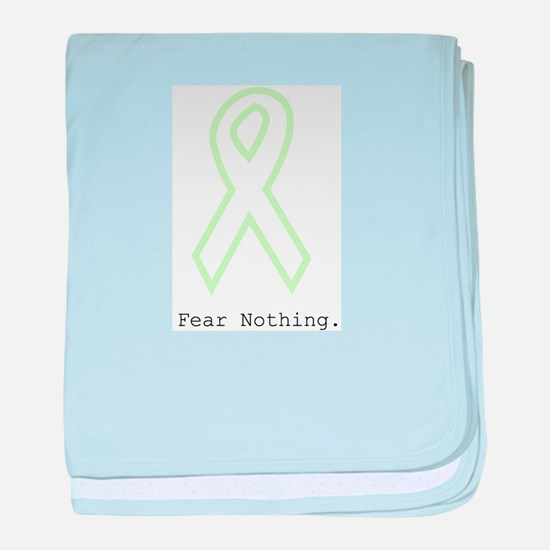 Mint Green Outline: Fear Nothing baby blanket