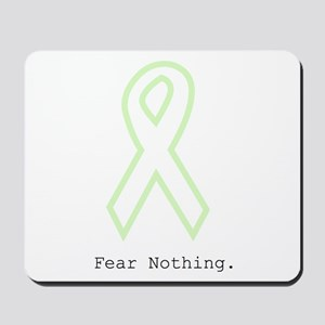 Mint Green Outline: Fear Nothing Mousepad