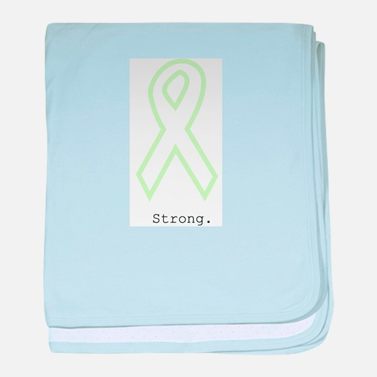 Mint Green Outline. Strong. baby blanket