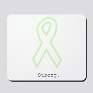 Mint Green Outline. Strong. Mousepad