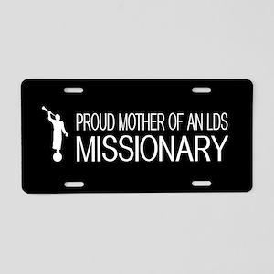 LDS: Proud Missionary Mother (Black) Aluminum Lice