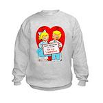 Stop Stringing Me Along Kids Sweatshirt