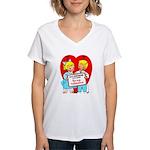 Stop Stringing Me Along Women's V-Neck T-Shirt