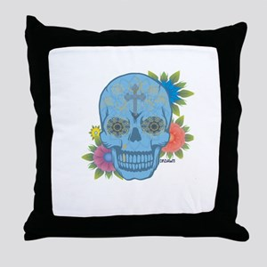 Sugar Skull Day of the Dead Throw Pillow