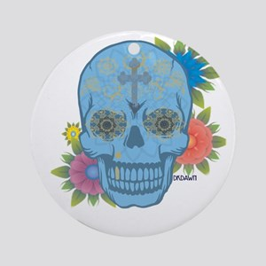 Sugar Skull Day of the Dead Round Ornament