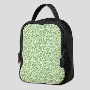Green Leaves Neoprene Lunch Bag
