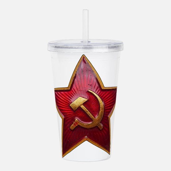Cute Hammer and sickle Acrylic Double-wall Tumbler