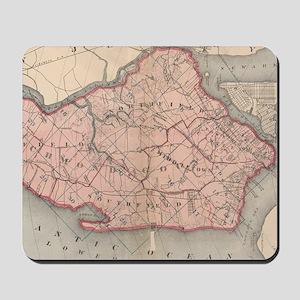Vintage Map of Staten Island New York (1 Mousepad