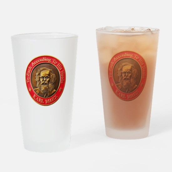 Karl Marx Drinking Glass