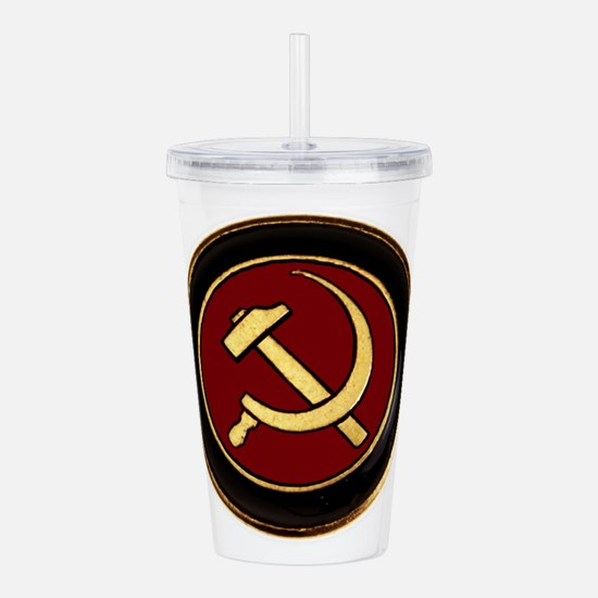 Unique Hammer and sickle Acrylic Double-wall Tumbler