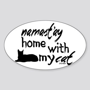 Namast'ay Home with My Cat Sticker