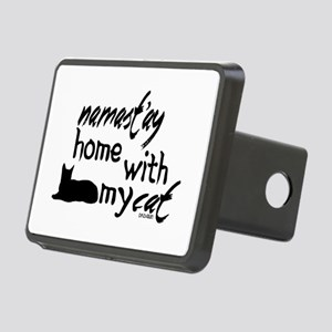 Namast'ay Home with My Cat Rectangular Hitch Cover