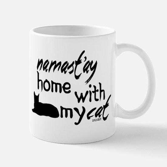 Namast'ay Home with My Cat Mugs