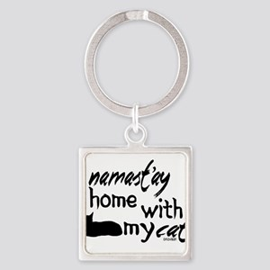 Namast'ay Home with My Cat Keychains