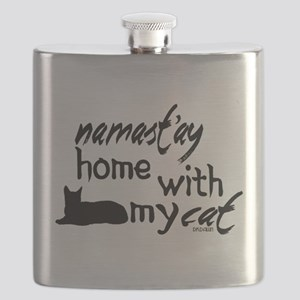 Namast'ay Home with My Cat Flask