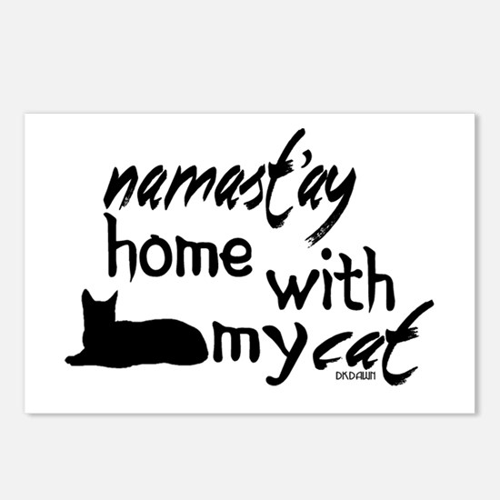 Namast'ay Home with My Ca Postcards (Package of 8)
