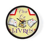 Viva La Livres Wall Clock