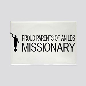 LDS: Proud Missionary Parents (Wh Rectangle Magnet