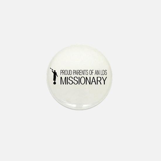 LDS: Proud Missionary Parents (White) Mini Button