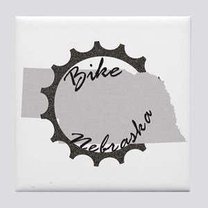 Bike Nebraska Tile Coaster