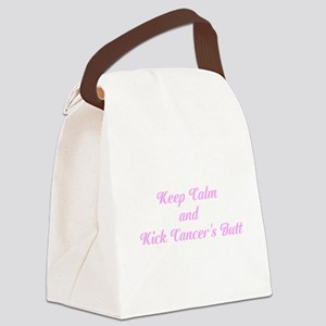 Keep Calm and Kick Cancers Butt Canvas Lunch Bag