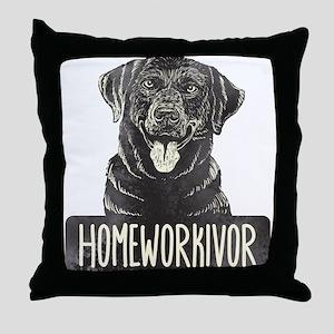 Homeworkivor Throw Pillow