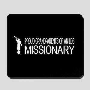 LDS: Proud Missionary Grandparents (Blac Mousepad
