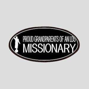 LDS: Proud Missionary Grandparents (Black) Patch