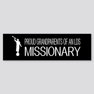 LDS: Proud Missionary Grandparent Sticker (Bumper)